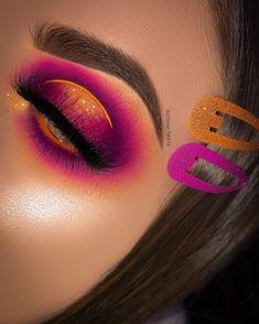 on EYES - Venus XL Palette limecrimemakeup Orange base plouise_makeup_academy Beautiful Sunset Palette bellanoiacollection Planet Eye Makeup Cut Crease, Bold Eye Makeup, Makeup Eye Looks, Creative Makeup Looks, Eye Makeup Steps, Eye Makeup Art, Colorful Eye Makeup, Natural Eye Makeup, Smokey Eye Makeup