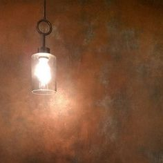 Patina Wall Finish with Copper and Antique Bronze Metallic Paint | Artistry by Melinda and Marc Bender of M&M Bender Designer Wall Finishes