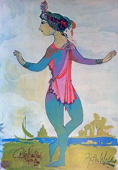 The Princess by Bjørn Wiinblad (SIGNED) - Original Vintage Poster