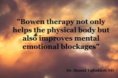 """When I first encountered the work of Tom Bowen, I was amazed at all the benefits patients were getting on the physical and structural level. It very quickly became my most used """"magic"""" therapy for pain elimination. It worked for knee pain, shoulder pain, bunions and golfer's elbow. It worked for migraine, for fibromyalgia, for chronic fatigue. As I interviewed my patient's more carefully, they got better on parts of their health they were not expecting."""