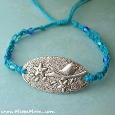 MettaMoon Macramé Blue Bird Love Bracelet LAST DAY OF SALE!!! www.MettaMoon.com