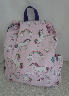 84a63580b8 Kids Backpack with Beautiful Sparkling Unicorns   Rainbows! Have  Personalized