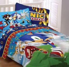 Sega Sonic The Hedgehog Twin Comforter & Sheet Set Piece Bedding) Bedroom Themes, Kids Bedroom, Bedroom Decor, Bedroom Ideas, Twin Comforter, Bedding Sets, Hedgehog Bedding, Sonic Birthday, Shared Bedrooms