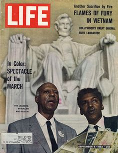 Large Antique September 6 1963 Civil Rights Life Magazine Cover - Approx 11 x 14