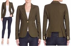 """jacket by Toronto-based Smythe Les Vests. The Duchess wore (drum roll) """"The Duchess"""" jacket. Saks Fifth Avenue"""