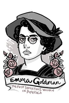 #100Day100Women Day 2: Emma Goldman: Preacher of Anarchy, advocate for contraception, sexual freedom, gender equality, women, homosexuals; critic of war, prison and capitalism; arrested a lot: https://en.wikipedia.org/wiki/Emma_Goldman