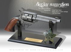 """Like Marston's, this revolver is based upon the Colt .45 single action army revolver and were ubiquitous among most who lived during the Old West. The real life Denix non-firing model 1106G, with gray finish, & brown wood grips makes its likeness a real-life """"Dead On"""" ringer to Marston's most practical and widely available weapon used in the Red Dead Redemtion game for PlayStation And X-Box"""