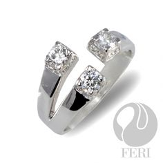 - Exclusive FERI 950 Siledium silver - Exclusive dual natural rhodium and palladium plating - Set with exclusive FERI Swan cut lab stones - Colour: white - Dimension: Optical Glasses, Sterling Silver Pendants, Plating, Fragrance, Display, Swan, Engagement Rings, Wealth, Jewels