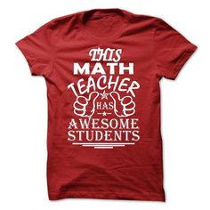 This Math Teacher Has Awesome Student T Shirts, Hoodies. Check price ==► https://www.sunfrog.com/LifeStyle/This-Math-Teacher-Has-Awesome-Student.html?41382 $21.99