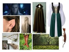 """""""accompanying Legolas to the Fellowship Meeting and Journey"""" by lewandowski2017 ❤ liked on Polyvore featuring Swarovski"""