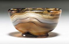 Banded agate bowl