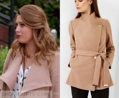 a4c15d085b8b0 Katie Wendelson (Briga Heelan) wears this tan short coat in this episode of Great  News