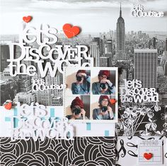 #papercrafting #scrapbook #layouts: LAYOUT - LET'S DISCOVER THE WORLD by EyoungLee at @studio_calico