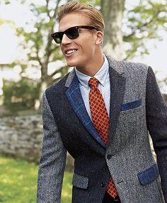 Milano Fit Harris Tweed Fun Sport Coat | Brooks Brothers