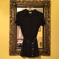 "Black Collared Mini Dress Cute little Black dress, can be business or casual, I am 5'2"" and it hits me mid thigh. Very comfortable. Pandora Dresses Midi"