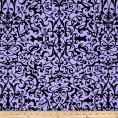 Michael Miller Midnight Trellis Gate Lilac from @fabricdotcom  From Michael Miller, this cotton print is perfect for quilting, apparel and home decor accents.  Colors include purple and black.