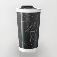 Authîel Rainbow Minimalist Travel Mug by weivy Beach Towel, Line Art, Travel Mug, Coffee Mugs, Minimalist, Personalized Items, Metal, Tableware, Dinnerware