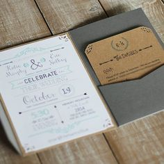 Awesome website for when planning wedding. How to create rustic chic wedding invitations, plus download a FREE invitation and details card template.