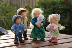 dollhouse family Waldorf style Family of five custom door ElineDolls, $118.00