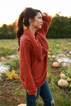 Fireside Snuggles Sweater in Rust