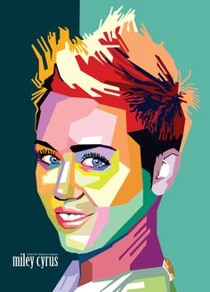 Wedha's Pop Art Portrait of Miley cyrus