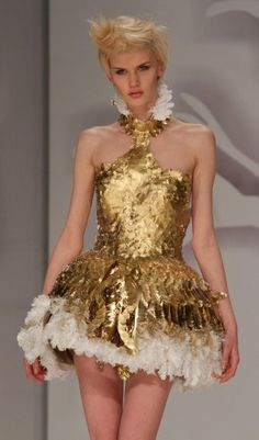SAPU's Eco-Fashion Show: 2012 Recycled Couture - Paper Dress