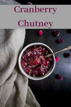 This 20 Minute Cranberry Orange Chutney recipe has the perfect combination of sweet, tart and savory flavors for a delicious condiment! Cranberry Chutney Recipe, Ginger Chutney, Cranberry Relish, Chutney Recipes, Jam Recipes, Sauce Recipes, Rhubarb Chutney, Recipies, Citrus Recipes