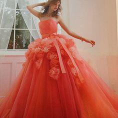 #weddingdress#dress#gown #flower#novias#sposa#lovely #ウエディングドレス#ドレス #カラードレス#カクテルドレス #プレ花嫁#結婚式#フラワー #ブライダル#kiyokohata#キヨコハタ