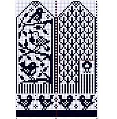 Ravelry: bird mittens chart