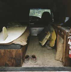 van-life: Model: Ford Econoline F350 Location: Rincon, California Photo: Foster Huntington