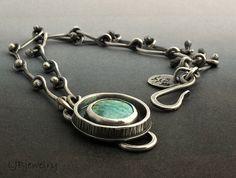 Silver Bracelet Turquoise Bracelet Turquoise Jewelry by LjBjewelry, $170.00