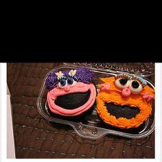 Seseame street cupcakes, <3