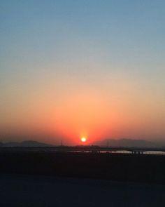 sunset on Rio