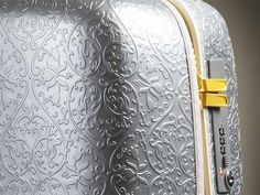 Saint Jacques Suitcases by Marcel Wanders Cute Luggage, Travel Items, Luxury Holidays, New Model, Textures Patterns, Travel Style, Suitcase, Saints, Surface Pattern