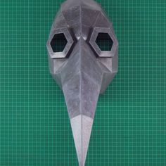 Instruções Origami, Paper Crafts Origami, Diy Paper, Plague Mask, Plague Doctor Mask, Crow Mask, Cardboard Mask, Mask Template, Cosplay Diy