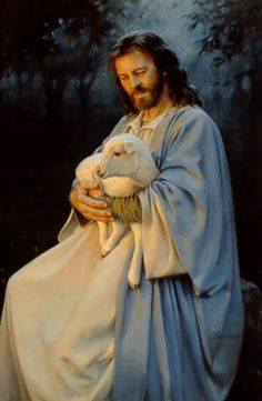 I Know My Sheep by artist Kathy Lawrence Jesus Christ with lamb Pictures Of Jesus Christ, Religious Pictures, Religious Art, Lds Pictures, Lord Is My Shepherd, The Good Shepherd, Religion, Miséricorde Divine, Image Jesus