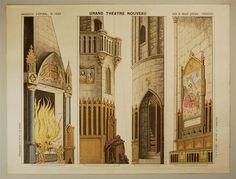 Imagerie d'Épinal, No. 1653. Grand Théâtre Nouveau. Salle du Manoir gotique - COULISSES.