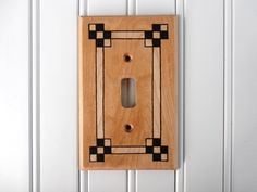 Arts and Crafts Style Woodburned Light Switch Cover / Switch Plate / Wall Plate - pinned by pin4etsy.com