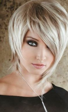 Flattering layered short haircuts for thick hair Edgy Hair Flattering Hair Haircuts Layered Short Thick Short Haircut Thick Hair, Thick Blonde Hair, Straight Thick Hair, Edgy Short Hair, Short Hair Styles, Short Hair Cuts For Women Edgy, Fade Haircut, Edgy Haircuts, Short Layered Haircuts