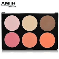 AMIIR Professional 6 Color Makeup Blush Palette