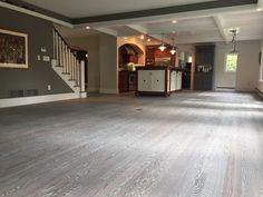 This Red Oak Floor was fumed and then finished with smoke colored Rubio Monocoat. Website to company that explains the most desired modern grey finishes. Refinishing Hardwood Floors, Engineered Hardwood Flooring, Grey Flooring, Flooring Ideas, Flooring Types, Floor Refinishing, Flooring Companies, Grey Hardwood, Hardwood Floor Colors