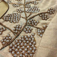 Intricate pearl detailing