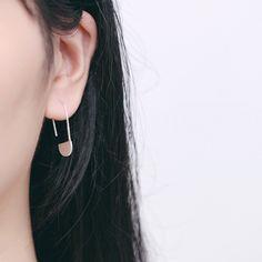 Simple 925 Sterling Silver Paperclip Earrings Women Jewelry at Banggood Clip On Earrings, Women's Earrings, Silver Paper, Paper Clip, Sterling Silver Earrings, Triangle, Women Jewelry, Silver Jewellery, Simple