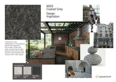 Caesarstone #6003 Coastal Grey - Caesarstone's own interpretation of the traditional granite look, beautified with strokes of black and white, Coastal Grey has dark, dominant tones and a strong character that empowers your interiors with a rustic beauty. http://www.caesarstone.ca/minisite_newcolours/#!coastel