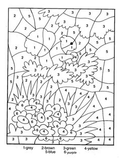 coloring by number pages for kids printable color number pages for adults free coloring pages free