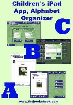 Children's iPad App, Alphabet Organizer #edtech #iOSedapp