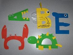"Letter Crafts ""She features a letter craft and a book for each letter."""