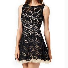 Fashion Round Neck Sleeveless Lace Princess Dress #WE30609PO