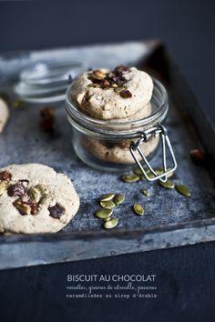 L'Automne est arrivé / Biscuit choco avec pacanes, noisettes & graines de citrouille caramélisées à l'érable