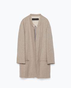 Image 8 of ROUGH LINEN COAT from Zara